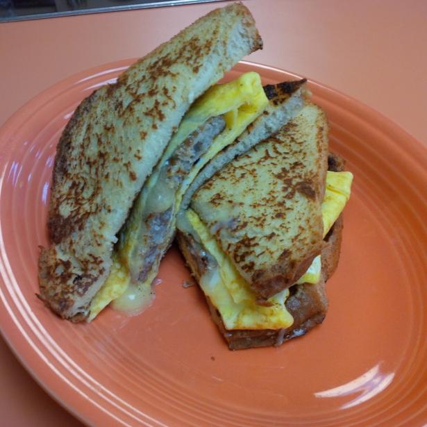 A Working Man's Breakfast Sandwich
